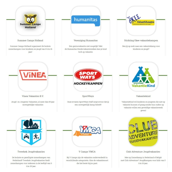 zomerkamp-organisaties-nederland
