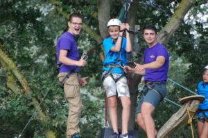 Ziplinen-op-zomerkamp